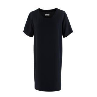 Sykes London Black Silk T-Shirt Dress