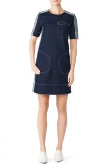 Marni Two-Tone Denim Shift Dress