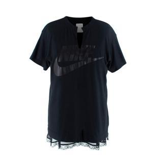 Nike Black Lace-Trimmed T-Shirt