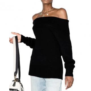Paige Black Izabella Off-The-Shoulder Sweater