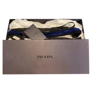 Prada Beaded Cotton Self Tie Belt