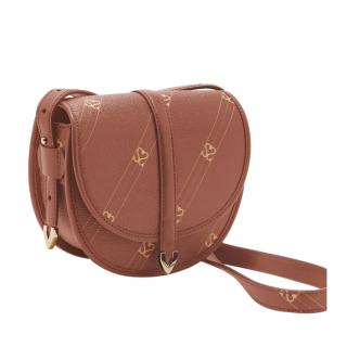 Sandro Monogram Faux-Leather Cross-Body Bag