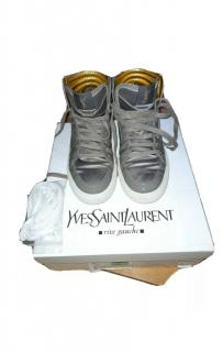 Yves Saint Laurent Reflective Leather & Technical Nylon High Tops