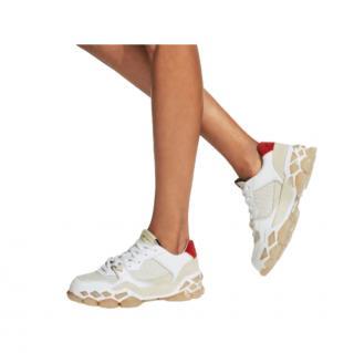 Jimmy Choo Diamond/C Nylon, Suede & Leather Sneakers