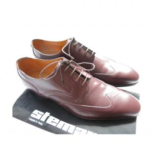 Stemar Burgundy Leather Lace-Up Oxford Brogues