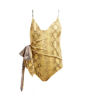 Stella McCartney Timeless Snake-print Wrap Swimsuit