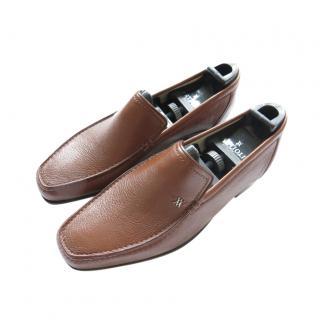 Artioli Brown Deerskin Moccasin Loafers