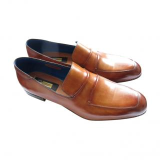 Zilli Whiskey Brown Handmade Loafers