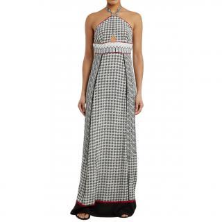 Talitha Scarf-Print Halterneck Silk Dress