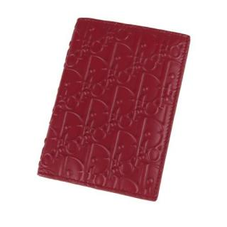 Dior Red Oblique Leather Passport Cover