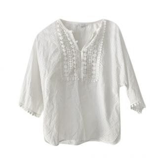 Andrew GN Broderie Anglaise White Blouse