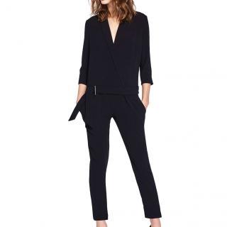 Ba&Sh Mosetta black crepe jumpsuit