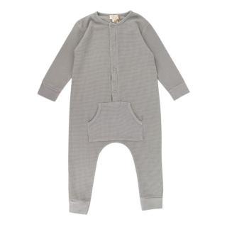 The Simple Folk Waffle Knit Grey Baby Grow