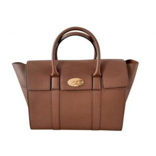 Mulberry Oak leather Bayswater Tote Bag with strap