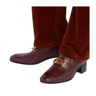 Gucci Ebal Burgundy Ice Lolly Loafers