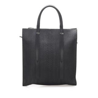 Balenciaga Black Python XL Tote Bag