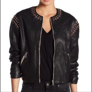 Isabel Marant Etoile Buddy Studded Leather Jacket