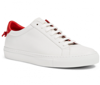 Givenchy White & Red Urban Street Sneakers