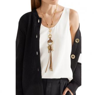 Chloe Gold Tone Nicole Pendant Necklace