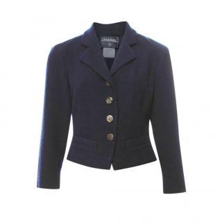Chanel Cruise Collection Navy Short Embellished Jacket