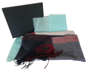 William and Son reversible cashmere stole/scarf  70x190 cms