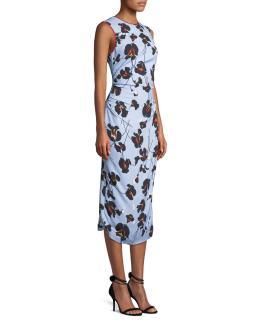 No.21 Donna Blue Floral Print Midi Dress