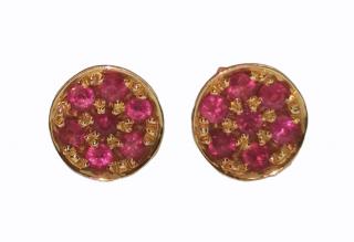 House of Magic Treasure Rubie Cluster Earrings