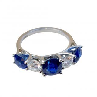 Bespoke Platinum Set Sapphire & Diamond RIng