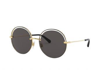 Dolce & Gabbana Round Black & Gold Sunglasses