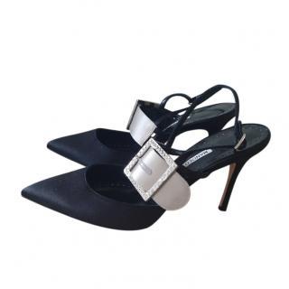 Manolo Blahnik Crystal Beladonabi 90mm Sandals