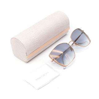 Jimmy Choo Alexis/s Gold Sunglasses