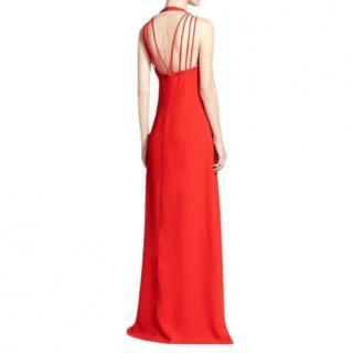DVF Red Sophia Silk Strappy Gown