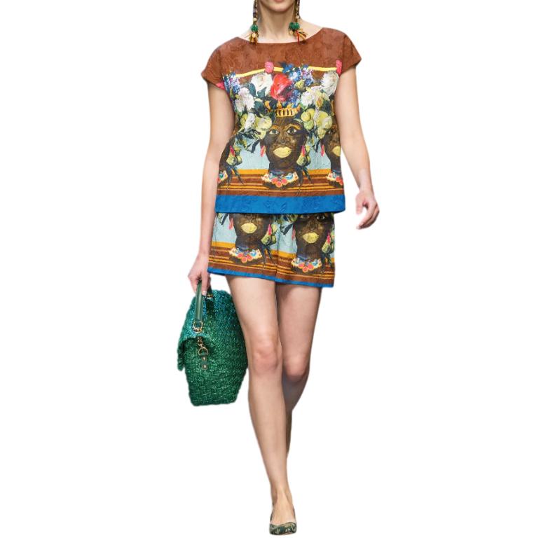 Dolce & Gabbana African Print Shorts