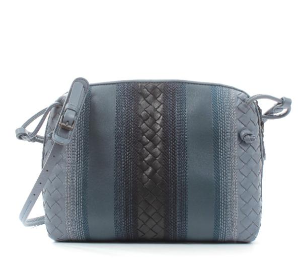 Bottega Veneta Limited Edition Blue Intrecciato Nodini Shoulder Bag