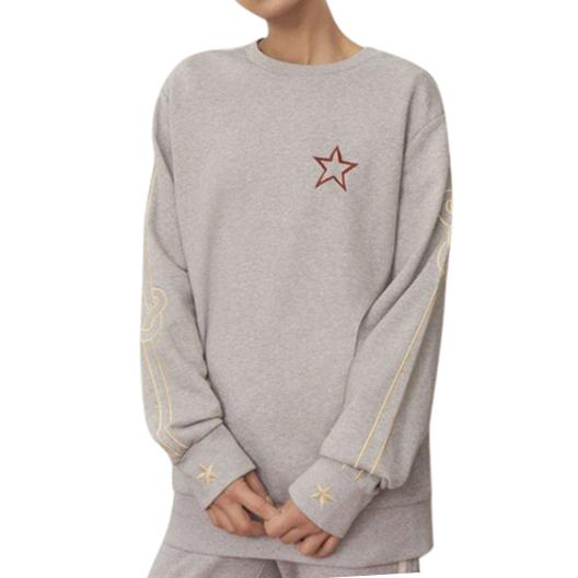 Bella Freud Cotton Lucky Jim Embroidered Crewneck Sweatshirt