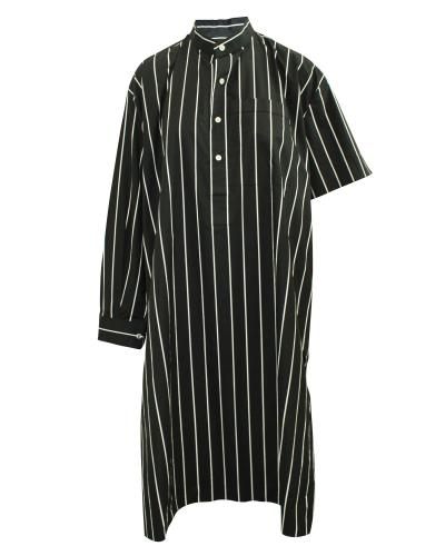 Balenciaga Oversized Black Striped Shirt Dress