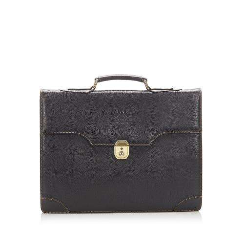Loewe Black Calf Leather Business Bag
