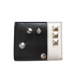 Alexander McQueen Black & White Studded Wallet