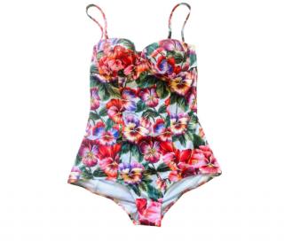 Dolce & Gabbana Tropical Floral Balconette Bikini