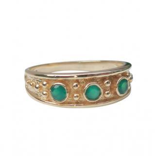 Bespoke Yellow Gold Byzantine Emerald Ring