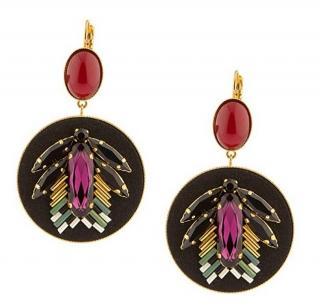 Satellite Paris Japanese Peal and crystal gem earrings