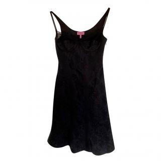 La Perla Black Silk Blend Baby Doll Dress