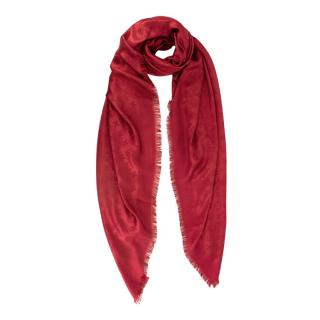 Louis Vuitton Monogram Pomme d'Amour Silk & Wool Shawl