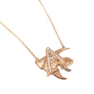 Stephen Webster A Is For Angelfish Gold Necklace