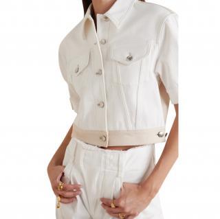 Chloe Two-tone printed denim jacket
