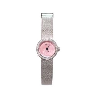 Dior La Mini D de Dior Satine 19mm Diamond Watch