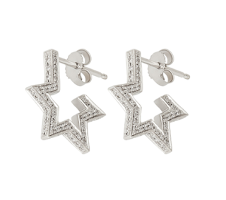 Tada & Toy 18ct White Gold Diamond Star Earrings - Sold Out