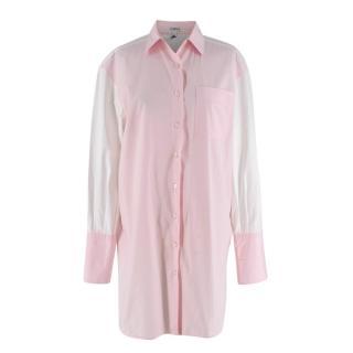 Loewe Colour Block White & Pink Oversize Shirt