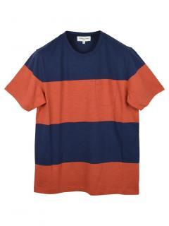 YMC Colourblock Stripe T-Shirt