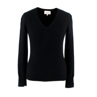 Eric Bompard Cashmere Black V-Neck Sweater